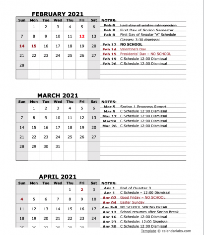 Look Ahead Monthly Calendar