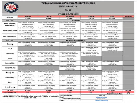 After School Program Schedule